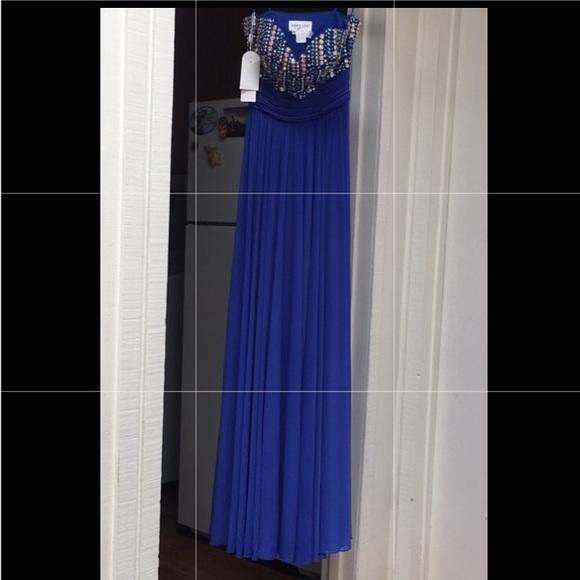 Anny Lee Dresses & Skirts - royal blue rhinestone gown NWT